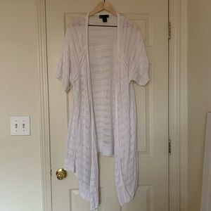 Lane Bryant Plus Size Women's White Cardigan
